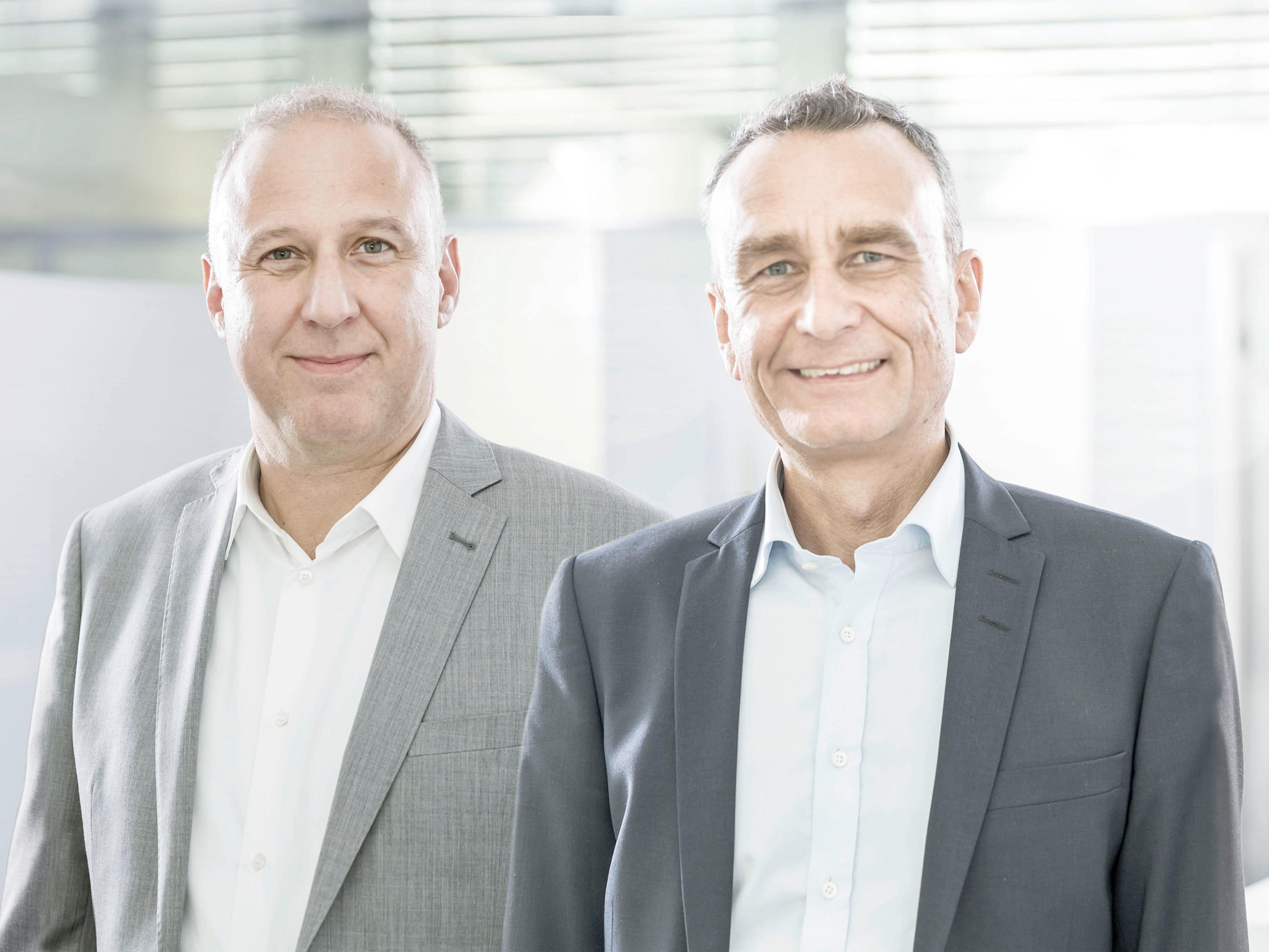 Urs Klipfel (l.) und Andreas Rieser (r.) leiten künftig den ATP-Standort in Nürnberg. Foto: ATP/Rauschmeir<br><span class='image_copyright'>ATP/Rauschmeir</span><br>