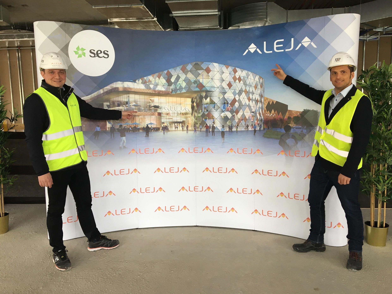 v. l. Toni Pugelj, Geschäftsführer SES, Nepra Slowenien und Centermanager des SC ALEJA, und Gesamtprojektleiter Philipp Pfister, ATP Innsbruck.<br><span class='image_copyright'>ATP</span><br>