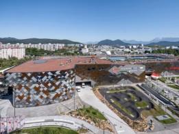 Mit einer BGF von 108.098 m2 setzt sich ALEJA in den am dichtesten besiedelten Stadtteil Ljubljanas.<br><span class='image_copyright'>ATP/Pierer</span><br>