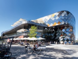 A meeting place: ALEJA, integrally designed by ATP.<br><span class='image_copyright'>Pierer</span><br>