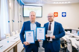 Managing Directors Vladimir Horton and Kai-Uwe Reitmann are delighted by the award.<br><span class='image_copyright'>ATP</span><br>