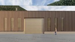 Die Holzfassade zeigt, was im Inneren produziert wird.<br><span class='image_copyright'>ATP</span><br>