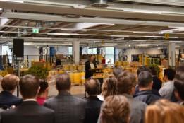 ADLER-Geschäftsführerin Andrea Berghofer freut sich bei der feierlichen Eröffnung über den gelungenen Neubau.<br><span class='image_copyright'>ADLER</span><br>