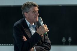ATP-CEO Christoph M. Achammer betont in seiner Keynote die steigende Bedeutung von integraler Planung mit BIM<br><span class='image_copyright'>ATP/Mint/Soland</span><br>