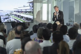 In his keynote address ATP CEO Christoph M. Achammer underlined the rising importance of integrated design with BIM<br><span class='image_copyright'>ATP/Mint/Soland</span><br>