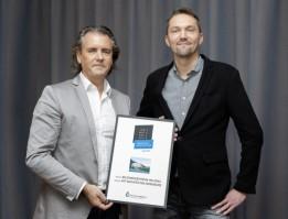 Stefan Köll, Gesamtprojektleiter (re.), freut sich mit Robert Kelca, ATP-Partner in Innsbruck (li.), über die Auszeichnung.<br><span class='image_copyright'>ATP/Rauschmeir</span><br>