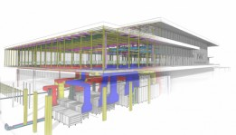 A digital image of the manufacturing center for IWC.<br><span class='image_copyright'>BIM model: ATP architekten ingenieure</span><br>