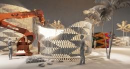 """Industrie 4.0 – """"Rob der Baumeister"""" erstellt das Ziegelmauerwerk.<br><span class='image_copyright'>HTL-Imst</span><br>"""