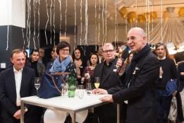 Architekt Heinz Lindner bei seiner Festrede am Abend der Eröffnungsfeier.<br><span class='image_copyright'>Julia Geiter</span><br>