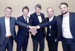 v. l.: Matthias Wehrle, ATP-Partner und GF ATP Zürich; Kees van Elst, Client Director und Mint-Partner; Christoph M. Achammer, ATP-Partner und CEO; Thomas Stiefel, Mint-Gründer und Partner, und Peter Roth, CEO und Mint-Partner.<br><span class='image_copyright'>ATP/Rauschmeir</span><br>