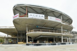Der aktuelle Baufortschritt des Shopping Centers.<br><span class='image_copyright'>SES/ALEJA</span><br>