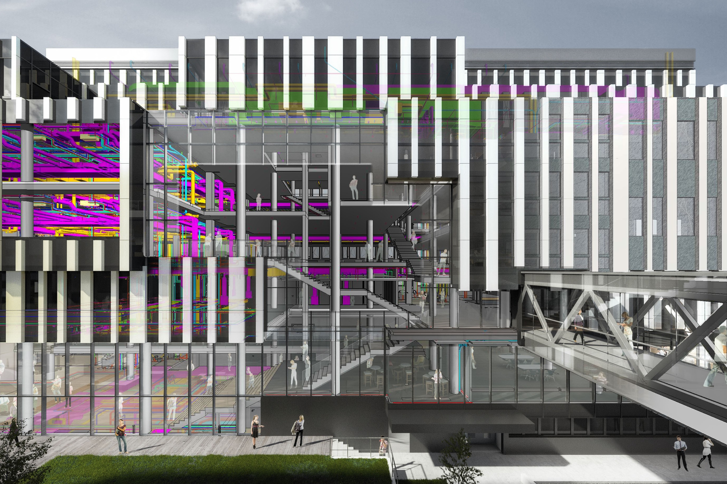 Integrally designed by ATP using BIM: The IMP research and laboratory building, Vienna.<br>Image: ATP<br>