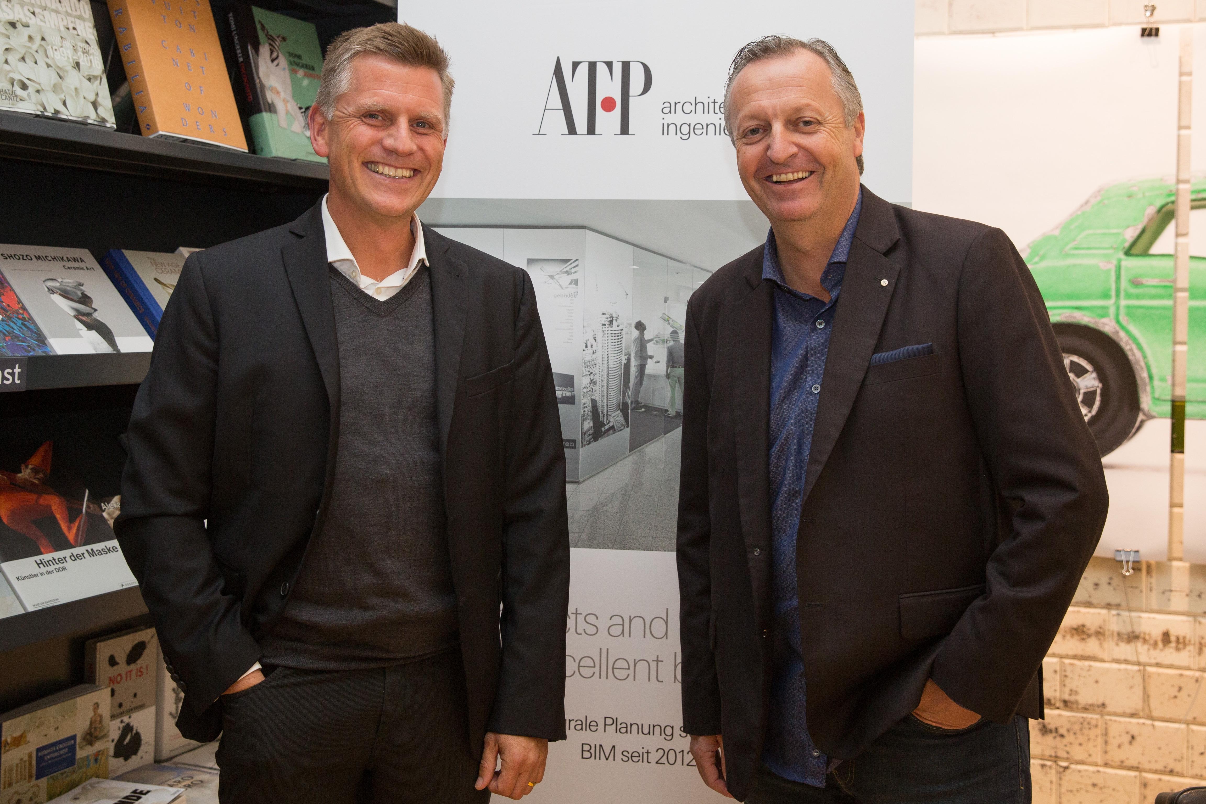 ATP-Zürich GF Matthias Wehrle und Michael Gräfensteiner freuen sich über die gelungenen Architektur FilmTage.<br><span class='image_copyright'>ATP</span><br>