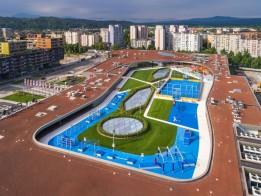 Das Activity Roof von ALEJA bietet vielfältige Sport- und Freizeitmöglichkeiten.<br><span class='image_copyright'>Jost Gantar/VELIKA</span><br>