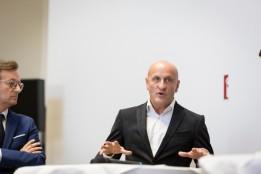 Horst Reiner, ATP-Partner in Wien spricht auf der Pressekonferenz anlässlich der Eröffnung des tz2<br><span class='image_copyright'>Wirtschaftsagentur Wien/TIRZA Photography</span><br>